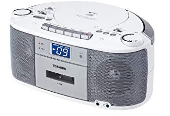【中古】TOSHIBA CDラジオカセットレコーダー CUTEBEAT シルバー TY-CDS5(S)