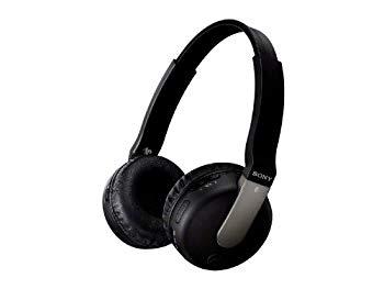 【中古】SONY 密閉型ワイヤレスヘッドホン Bluetooth対応 マイク付 ブラック DR-BTN200/B