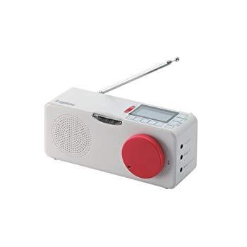 【中古】Logitec 【FM/AM対応】地震・津波 緊急警報ラジオ 乾電池/AC電源両対応 フラッシュライト付 LRT-ER100
