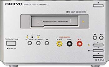 【中古】ONKYO INTEC155 カセットデッキ メタルテープ対応 ドルビーB/C HX PRO搭載 シルバー K-501A(S)