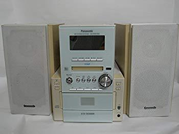 【中古】Panasonic パナソニック SC-PM57MD-W ホワイト MDステレオシステム (5CDチェンジャー/MD/カセット/チューナーコンポ)(本体SA-PM57MDとスピ