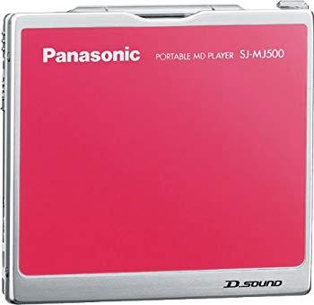 【中古】パナソニック ポータブルMDプレーヤー ピンク SJ-MJ500-P