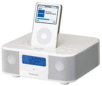 【中古】Princeton I-Bird FM/AMラジオ搭載目覚まし機能付きiPod専用マルチメディアスピーカー ホワイト PSP-MSSACW