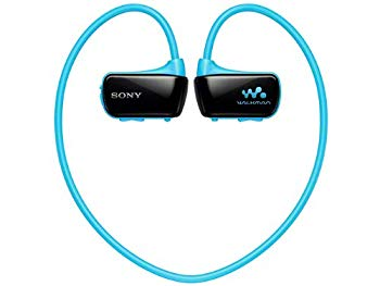 【中古】SONY ウォークマン Wシリーズ 8GB ヘッドホン一体型 防水タイプ ブルー NW-W274S/L