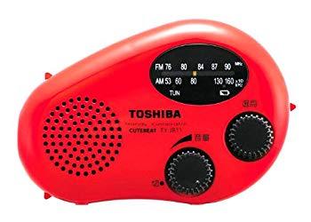 在庫処分 中古 未使用 未開封品 限定品 TOSHIBA 防水充電ラジオ TY-JR11 CUTEBEAT R