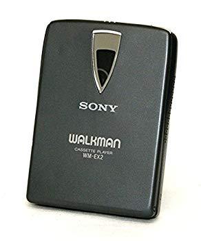 【中古】SONY ソニー WM-EX2-B ブラック ポータブルカセットプレーヤー Dolby NR装備 再生専用機(カセットウォークマン)