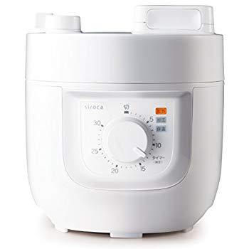 【中古】siroca 電気圧力鍋 SP-A111 ホワイト[圧力/無水/蒸し/炊飯/コンパクト]