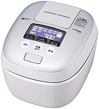 【中古】タイガー 炊飯器 5.5合 圧力IH 土鍋コーティング 極うま機能付き 炊きたて ホワイトグレー JPC-A101-WH
