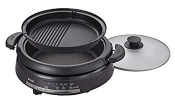 【中古】タイガー グリル鍋 3.5L プレート 2枚 タイプ 深鍋 焼肉 プレート 蓋 付き CQE-B200-TH