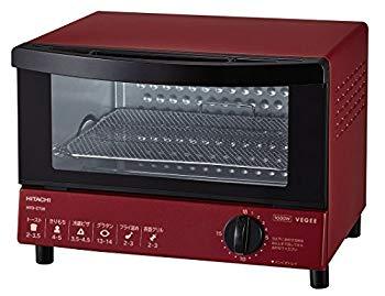 【中古】日立 オーブントースター 1000W 角型パン2枚焼き HTO-CT30 R レッド