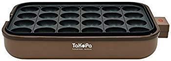 中古 APIX たこ焼き器 TaKoPa 24穴 高級な 平面プレート ブラウン ATM-024-BR レシピ付き SEAL限定商品