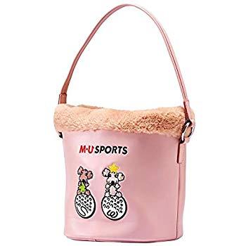 【中古】MU SPORTS(エム ユースポーツ) 2018AW バケツ型ボアポーチ 703W6030 ピンク
