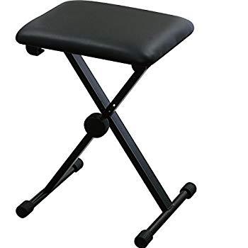 【中古】(未使用・未開封品) キクタニ キーボードベンチ ピアノイス X型 KB-60 ブラック