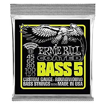 【中古】【正規品】 ERNIE BALL 3836 ベース弦 5弦 (45-130) 5-STRING COATED REGULAR SLINKY BASS コーテッド・レギュラー・スリンキー・ベース