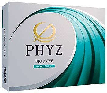 【中古】BRIDGESTONE(ブリヂストン) ゴルフボール PHYZ 1ダース (12個入り) パールグリーン P7BX