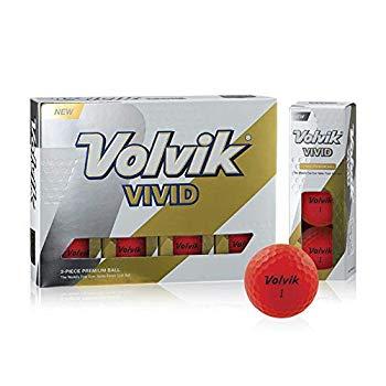 【中古】Volvik(ボルビック) ゴルフボール Volvik VIVID 1ダース レッド