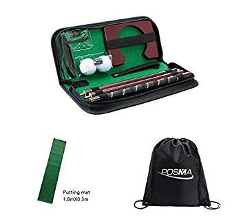 【中古】Posma PG020AA ゴルフ練習セット パター練習器具,Miniゴルフ住宅用練習マットPortable運転鳴ったマット,バッグ