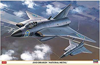 中古 ハセガワ 1 48 全店販売中 《週末限定タイムセール》 スウェーデン空軍 ナチュラルメタル J35D ドラケン 07434 プラモデル