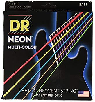 【中古】DR ベース弦 5弦 NEON ニッケルメッキ マルチ カラー コーテッド .045-.125 NMCB5-45