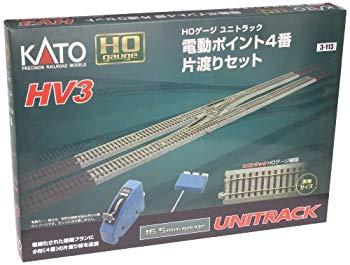 驚きの値段で 中古 KATO HOゲージ HV-3 電動ポイント4 3-113 国内在庫 レールセット 番片渡りセット 鉄道模型