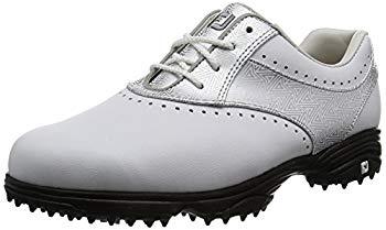 【中古】[フットジョイ] ゴルフシューズ eMerge レディース ホワイト/シルバー(17) 24.0 cm 3E