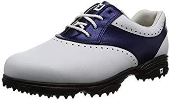 【中古】[フットジョイ] ゴルフシューズ eMerge 93918J レディース ホワイト/ネイビー(17) 24cm