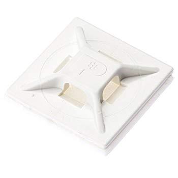 【中古】パンドウイット マウントベース アクリル系粘着テープ付き 白 500個入り ABMM-AT-D