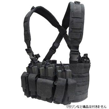 【中古】CONDOR(コンドル) タクティカルギア MCR5 リーコンチェストリグ(ポーチ3個・ポケット4個) ブラック