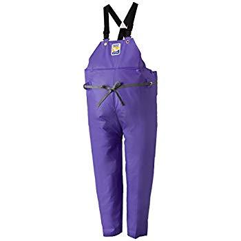 【中古】ロゴス 産業用レインウェア マリンエクセル 胸当付ズボン膝当て付(サスペンダー式) 12063932 パープル L
