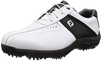 【中古】[フットジョイ] ゴルフシューズ GREEN JOYS 45303J メンズ ホワイト/ブラック(17) 28cm