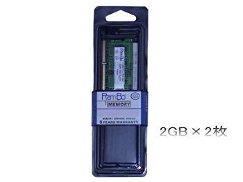 【中古】dynabook Qosmio FX/FXW/GX/GXWでの動作保証2GBメモリ2枚組