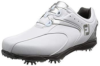【中古】[フットジョイ] ゴルフシューズ EXL SPIKE Boa メンズ ホワイト/シルバー(16) 25.0 cm 3E