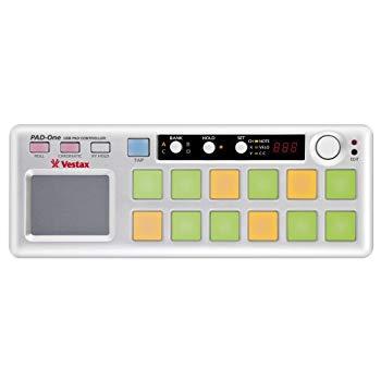 中古 Vestax パッドコントローラー PAD-One MIDIエディット 新作入荷 大好評です MIDI出力 アフタータッチ ベロシティ機能搭載