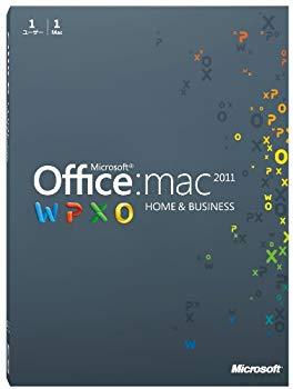 【中古】【旧商品】Microsoft Office for Mac Home and Business 2011-1 パック