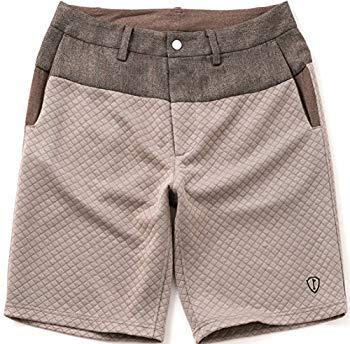 【中古】SHIELDS(シールズ) フットゴルフ パンツ TREK & TURF キルティング ツイード ショートパンツ SHFG-1511 ブラウン XL