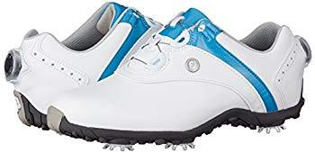 【中古】[フットジョイ] ゴルフシューズ LoPro SPORT レディース ホワイト/ブルー(18) 23.5 cm