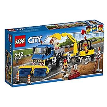 <title>中古 レゴ LEGO シティ 道路清掃車とパワーショベル 60152 お買い得</title>