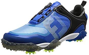 【中古】[フットジョイ] ゴルフシューズ FREE STYLE Boa メンズ ブラック/ブルー(16) 24.5 cm 3E