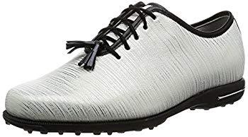 【中古】[フットジョイ] ゴルフシューズ TAILORED COLLECTION 91690J レディース ホワイト/リネン(17) 24cm