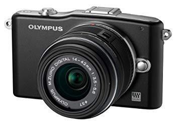 【中古】OLYMPUS ミラーレス一眼 PEN mini E-PM1 レンズキット ブラック E-PM1 LKIT BLK