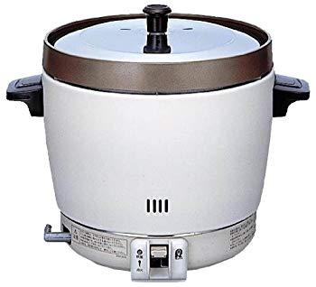 【中古】リンナイ(Rinnai) 業務用ガス炊飯器 2升用 普及タイプ ゴム管接続/直径9.5mm 都市ガス用 RR-20SF2(A)-12A13A