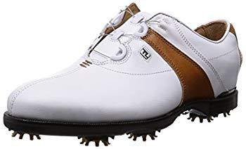 【中古】[フットジョイ] ゴルフシューズ ICON BLACK Boa メンズ ホワイト/ブラウン(15) 25.5 cm 2E