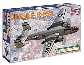 【中古】Minicraft 14653 USAF B-25J 1/144 Scale Aircarft Model Kit