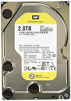 【中古】WESTERN DIGITAL 3.5インチ内蔵HDD 2TB SATA6.0Gb/s 7200rpm/class 128MB 512e WD2004FBYZ