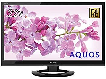 【中古】シャープ 22V型 液晶 テレビ AQUOS LC-22K45-B フルハイビジョン 外付HDD対応(裏番組録画) ブラック