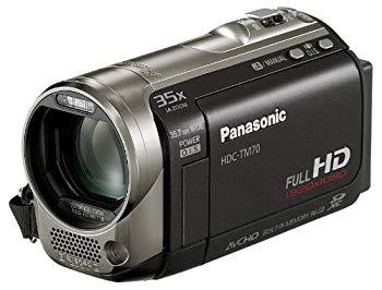 【中古】パナソニック デジタルハイビジョンビデオカメラ TM70 ムーンブラック HDC-TM70-K (内蔵メモリ96GB)