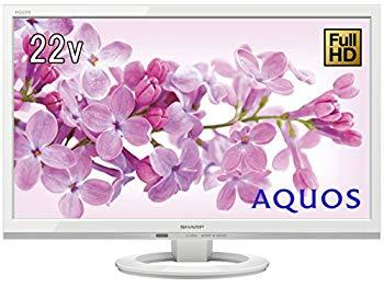 【中古】シャープ 22V型 液晶 テレビ AQUOS LC-22K45-W フルハイビジョン 外付HDD対応(裏番組録画) ホワイト 2017年モデル