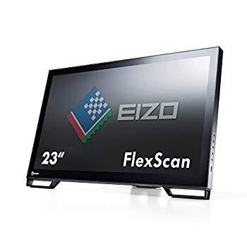 【中古】EIZO FlexScan 23型タッチパネル装着カラー液晶モニター 1920x1080 DVI-D DisplayPort D-sub ブラック FlexScan T2381W-BK