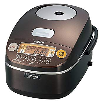 【中古】象印 圧力IH炊飯器5.5合 ブラウン NP-BC10-TA