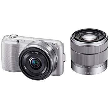 【中古】ソニー SONY デジタル一眼カメラ α NEX-C3 ダブルレンズキット シルバー NEX-C3D/S